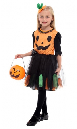 The Girl Pumpkin Halloween Costume (TCQ0255)